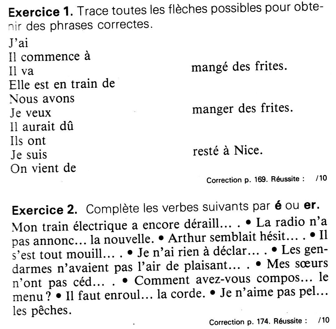 Les exercices de français du CM2.